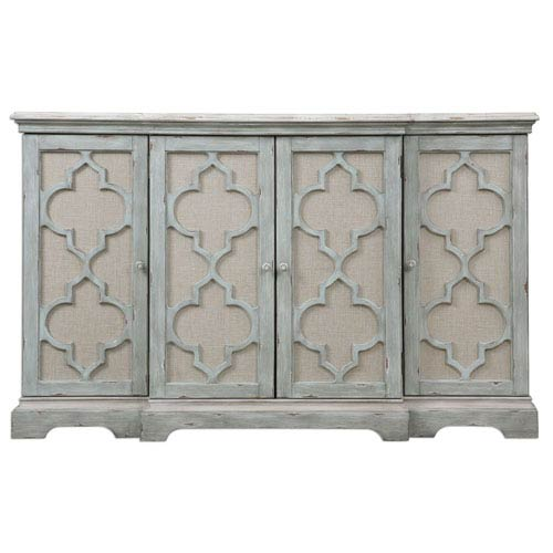 Sophie Weathered Gray Four-Door Cabinet