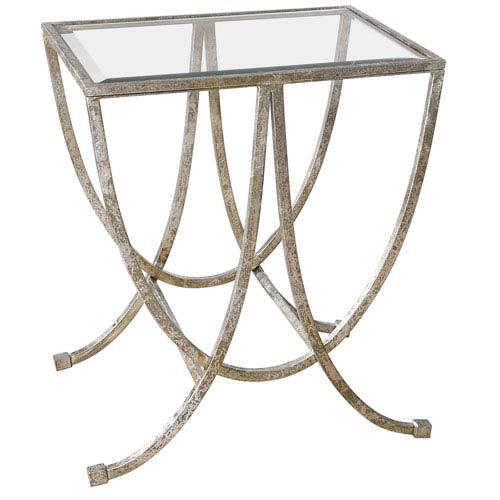 Marta Antique Silver Side Table