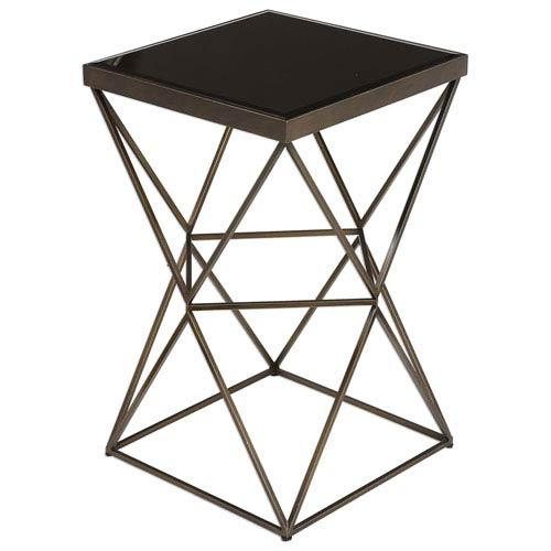 Uberto Antique Bronze Accent Table