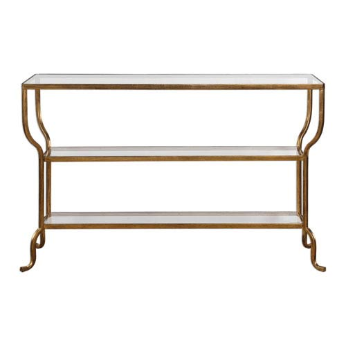 Deline Gold Console Table