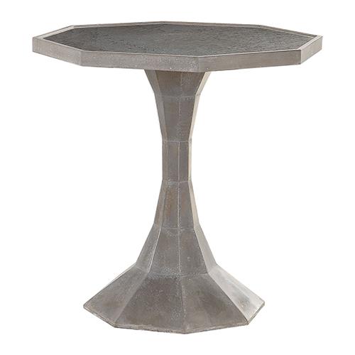 Aharon Rustic Burnished Patina Octagonal Lamp Table