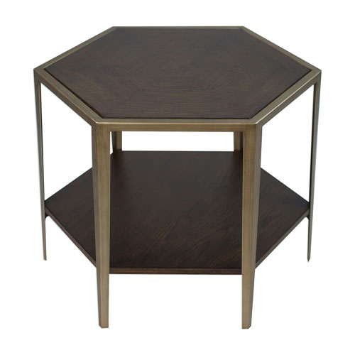 Alicia Geometric Accent Table