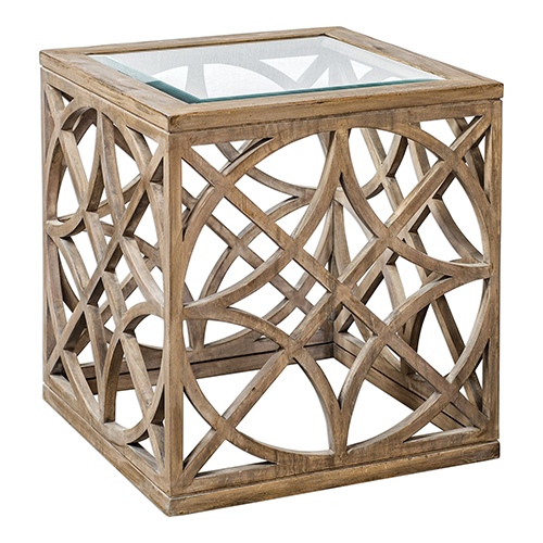Janeva Wheat Accent Table