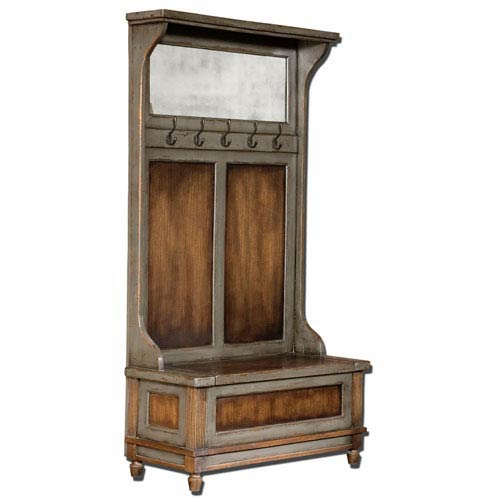 Uttermost Riyo Mango Wood Entry Hall Bench With Coat Rack 25561