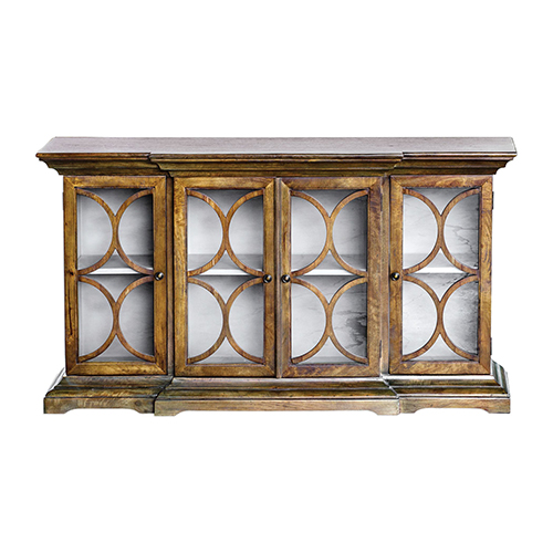 Belino Walnut Four Door Cabinet