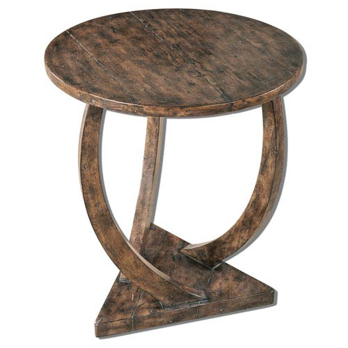 Pandhari Honey Stain Round Accent Table
