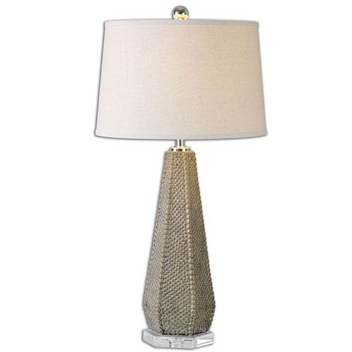Pontius Olive Taupe and Bronze One Light Table Lamp