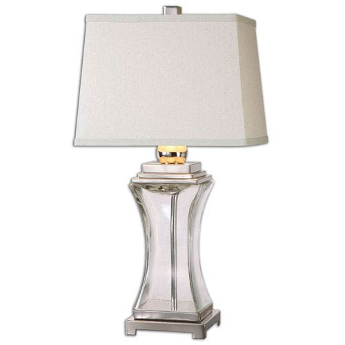 Uttermost Fulco Polished Nickel One-Light Table Lamp with Glass Base