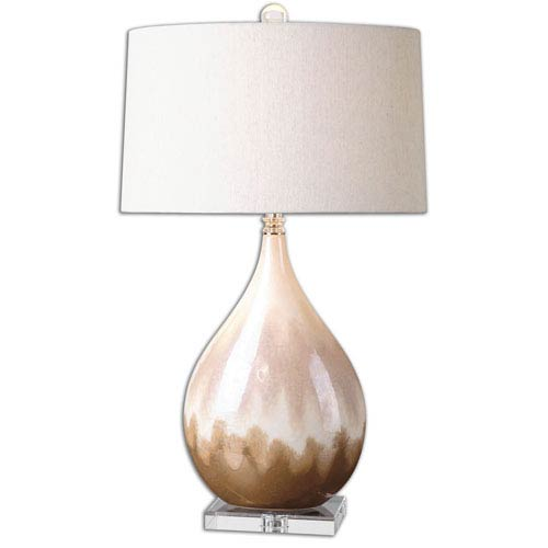 Flavian Beige and Ivory One Light Table Lamp