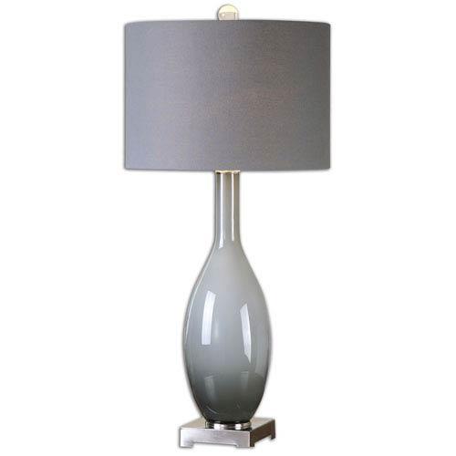 Vallo Smoke Gray One-Light Table Lamp
