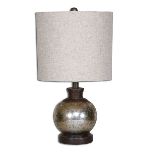 Uttermost Arago Aged Mango Wood One Light Table Lamp With Antique