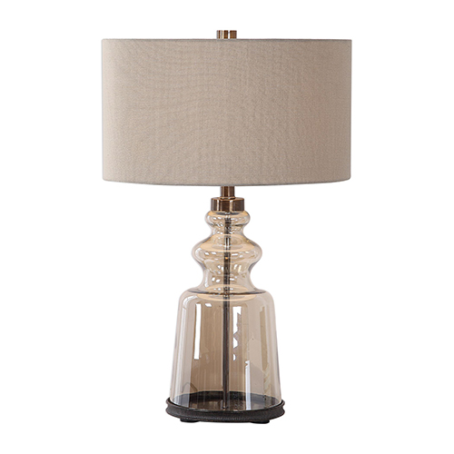 Irving Amber Glass One-Light Table Lamp