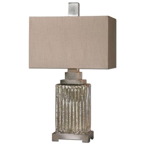 Canino Brushed Aluminum One-Light Mercury Glass Table Lamp