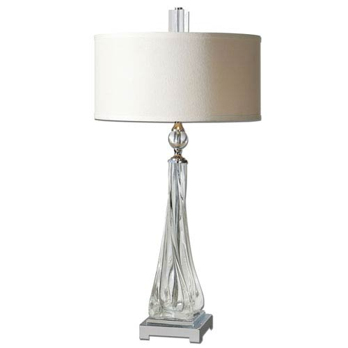 Grancona Polished Nickel Two-Light Table Lamp