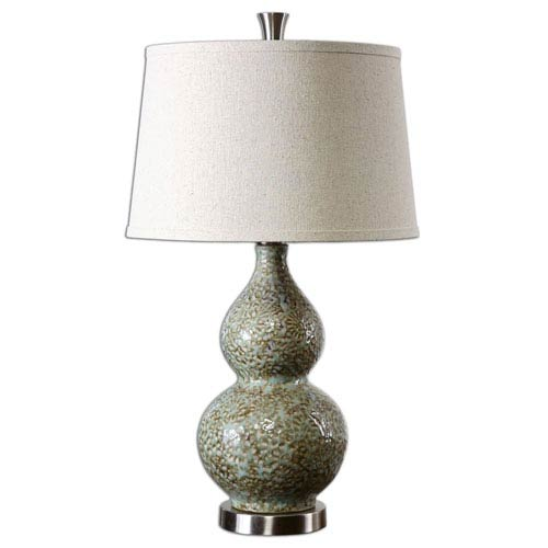 Uttermost Hatton Green And Ivory Ceramic One Light Table Lamp 26299