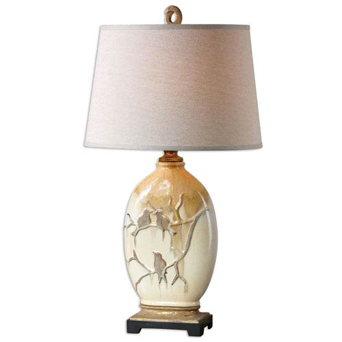 Pajaro Aged Ivory One-Light Table Lamp
