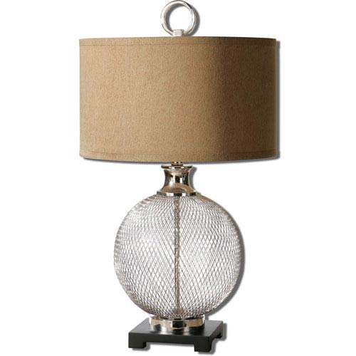 Uttermost Catalan Polished Nickel One-Light Accent Lamp