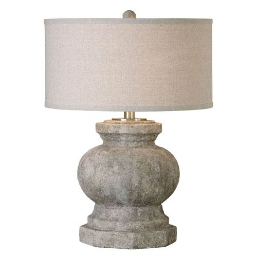 Verdello Antique Stone Ivory One-Light Table Lamp
