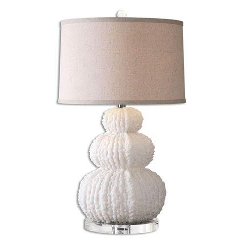 Uttermost Fontanne Shell Ivory One-Light Table Lamp