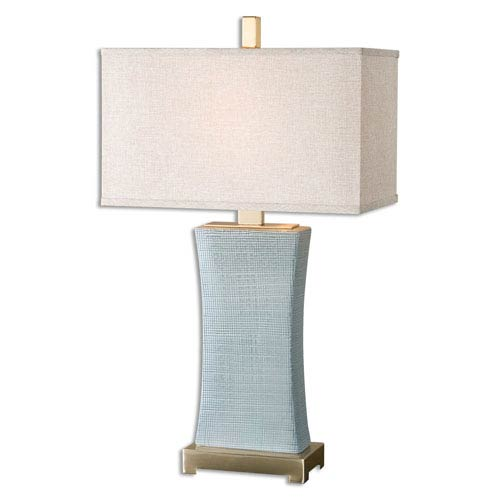 Uttermost Cantarana Blue Gray One-Light Table Lamp