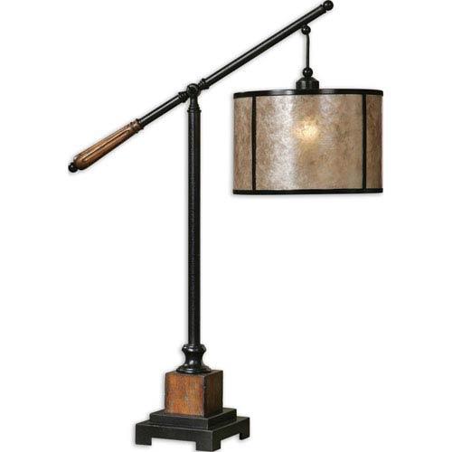Sitka Rustic Mahogany One-Light Lantern Table Lamp