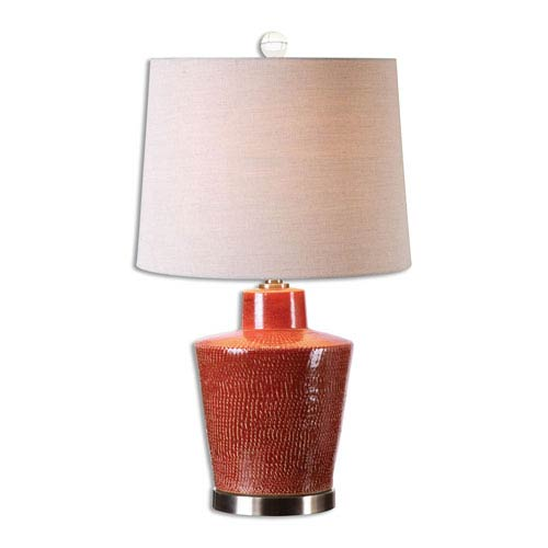 Cornell Brick Red One-Light Table Lamp