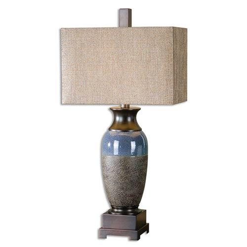 Uttermost Antonito Stone Bronze One-Light Table Lamp