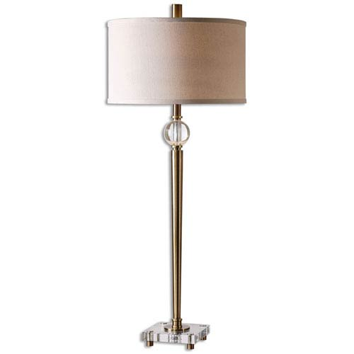 uttermost buffet lamps silver uttermost mesita brass onelight buffet lamp one light 26959 bellacor