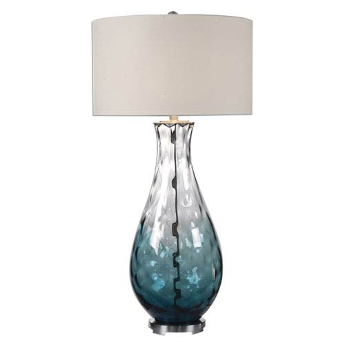 Uttermost Vescovato Translucent Blue One-Light Table Lamp