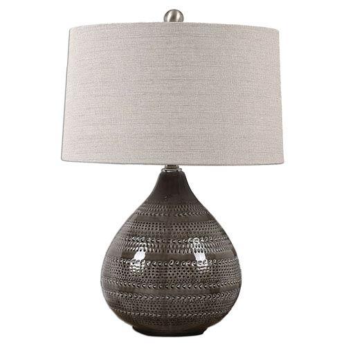 Batova Smoke Gray One-Light Table Lamp