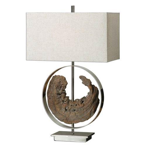 Uttermost Ambler Polished Nickel One-Light Table Lamp