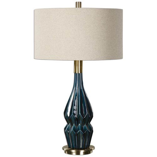 Uttermost Prussian Blue One-Light Table Lamp