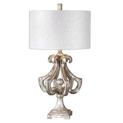 Vinadio Distressed Silver One-Light Table Lamp