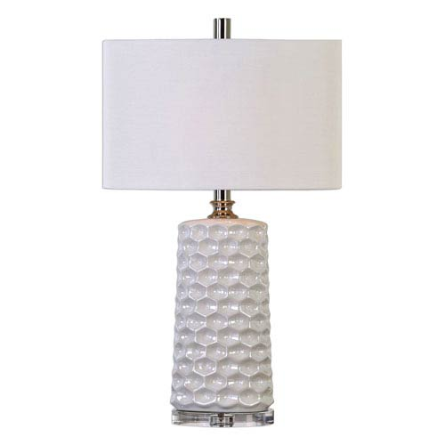 Sesia White One-Light Table Lamp
