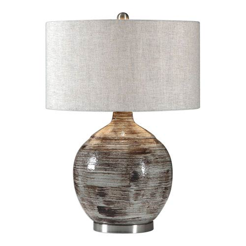 Tamula Distressed Ivory Table Lamp