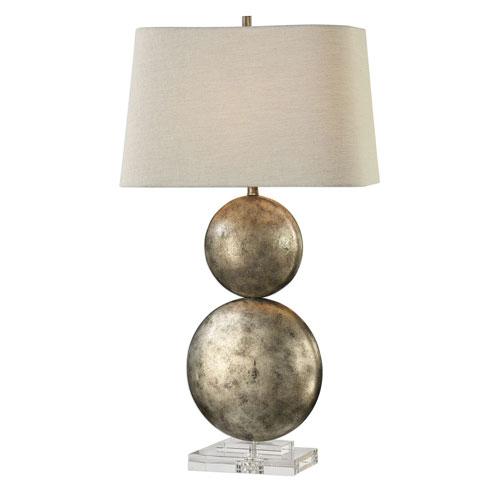 Ordona Antiqued Metallic Silver Lamp