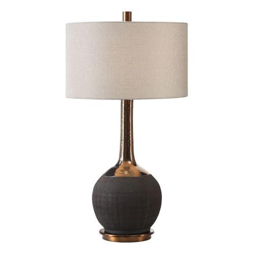 Arnav Textured Black Lamp