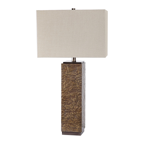 Naiser Crumpled Copper One-Light Table Lamp
