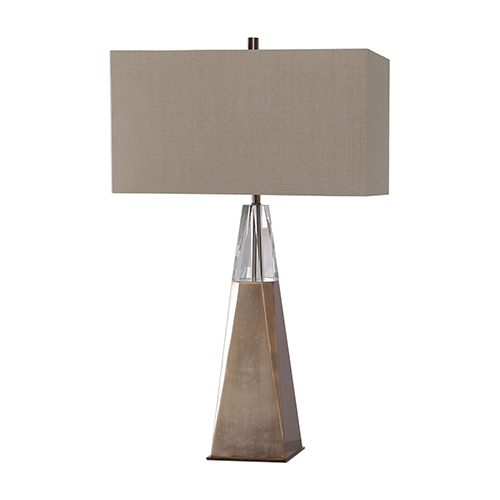 Uttermost Priam Plated Brass One-Light Table Lamp
