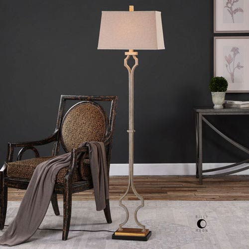Uttermost Vincent Gold Floor Lamp 28078 Bellacor
