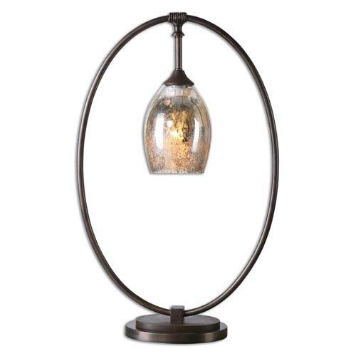 Lemeta Oxidized Bronze Oval One-Light Table Lamp