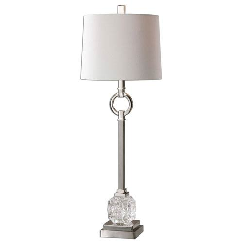 Bordolano Polished Nickel One-Light Buffet Lamp