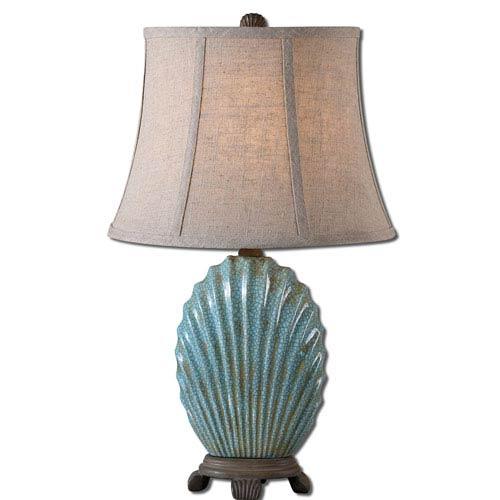 Blue Seashell Lamp