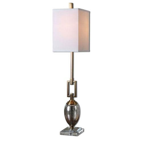 Copeland Coffee Bronze and Crystal One-Light Buffet Lamp