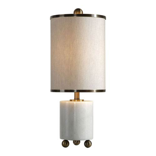 Meelagh White Marble Lamp