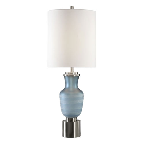 Uttermost Acciano Frosted Blue Lamp