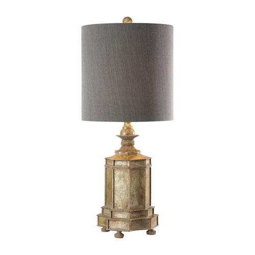 Falerone Distressed Golden Lamp