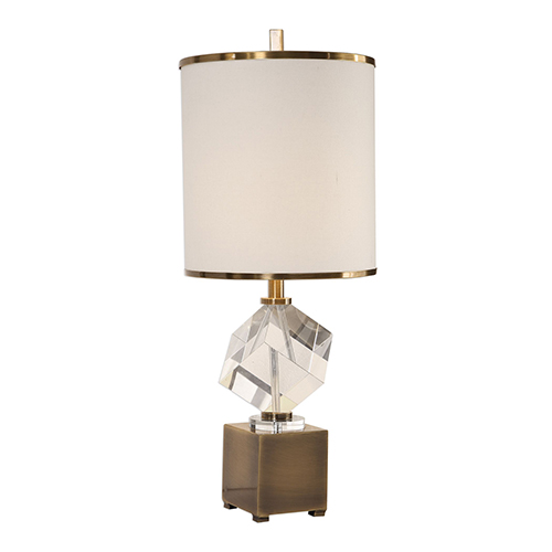 Cristino Crystal Cube One-Light Table Lamp