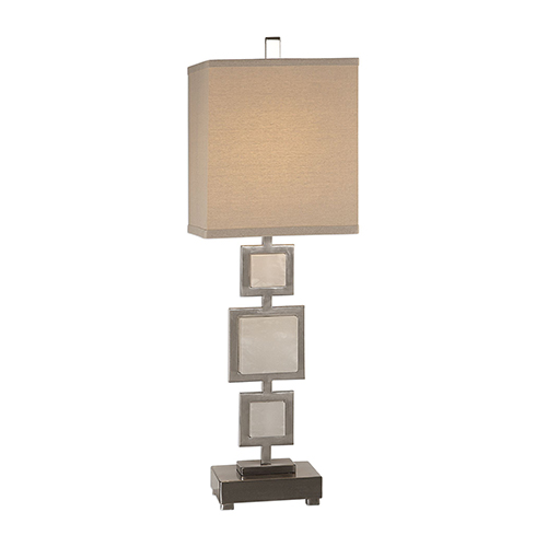 Idalgo Brushed Nickel One-Light Table Lamp