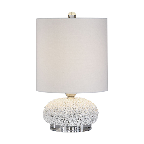 Uttermost Dellen White Floral One-Light Buffet Lamp